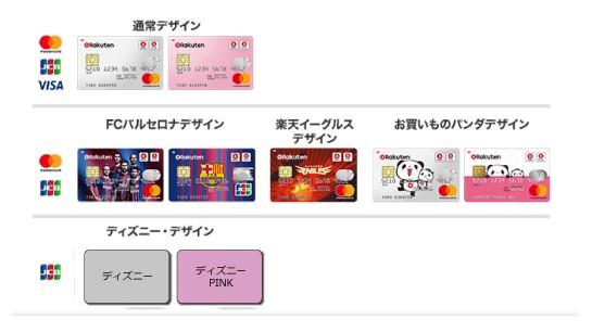 楽天カード デザイン選択画面